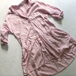 Zara tencel utility dress